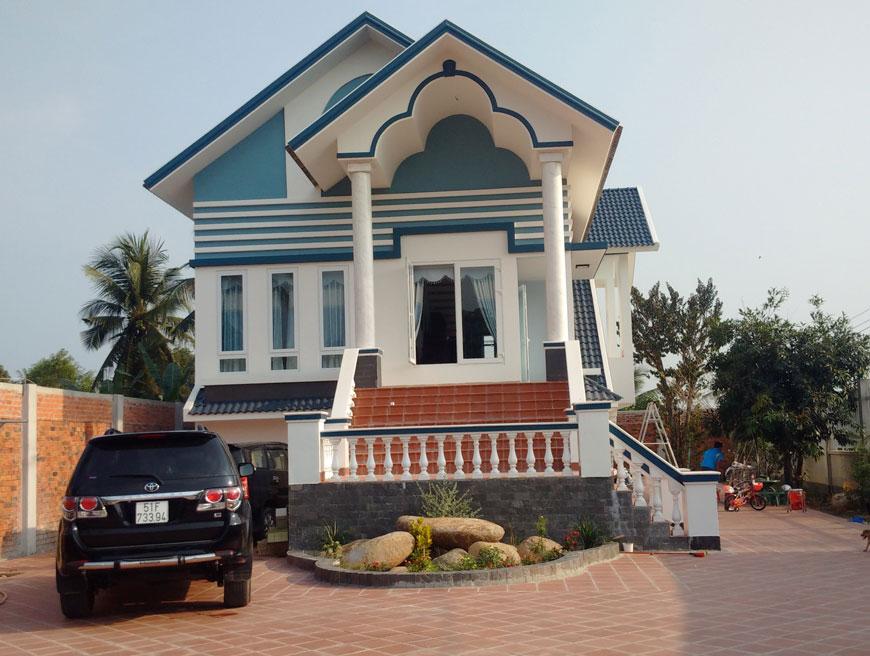 Nhà ở biệt thự tại Tây Ninh đã tiến hành bàn giao cho gia chủ